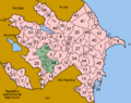 Azerbaijan districts numbered spanish.png