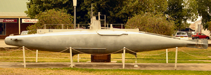 A scale model of the B11 in Holbrook, NSW