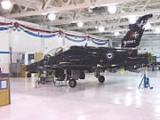 BAe CT155 Hawk serial number 155217 in Canadian service undergoes maintenance at CFB Moose Jaw, 3 November 2005