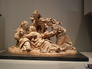 Antonio Begarelli - Model of the Virgin Mary and Holy Women, ca. 1530, now at the Victoria and Albert Museum