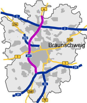 Course of the A 391