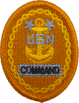 Command master chief petty officer - Coveralls and NWU Type I badge