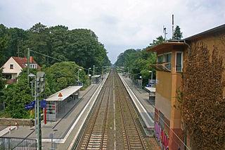 Essen Stadtwald station Railway station in Essen, Germany