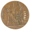 Baksida av medalj med chariter - Skoklosters slott - 99328.tif