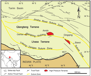 High pressure metamorphic terranes along the Bangong-Nujiang Suture Zone