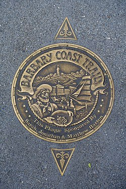 Barbary Coast Trail marker - San Francisco, CA - DSC02051.jpg