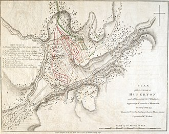 Battle of Hubbardton - Engraving of a map drawn by a British officer after the battle
