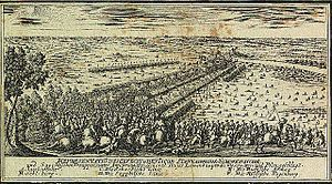 1704 in Sweden - The Battle of Jakobstadt (engraving from the Johann Christoph Brotze's collection)