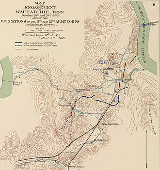 Battle of Wauhatchie - Image: Battle of Wauhatchie map