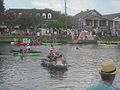 Bayou St John 4th of July 2013 Kolossos Flag Boats.JPG