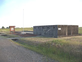 Beale Air Force Base - The remnants of a World War II German POW camp at Beale AFB. This cell block was used for isolation detention.