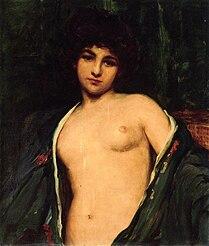 James Carroll Beckwith, Portreto de Evelyn Nesbitt, ĉ. 1901