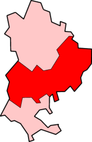 Mid Bedfordshire District - Mid Bedfordshire within non-metropolitan Bedfordshire post 1998