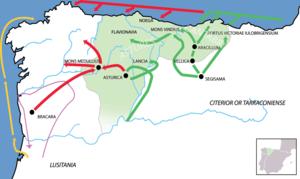 Cantabrian Wars - Image: Bellum Asturicum Cantabricum