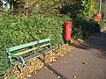 Bench and postbox - geograph.org.uk - 1030898.jpg