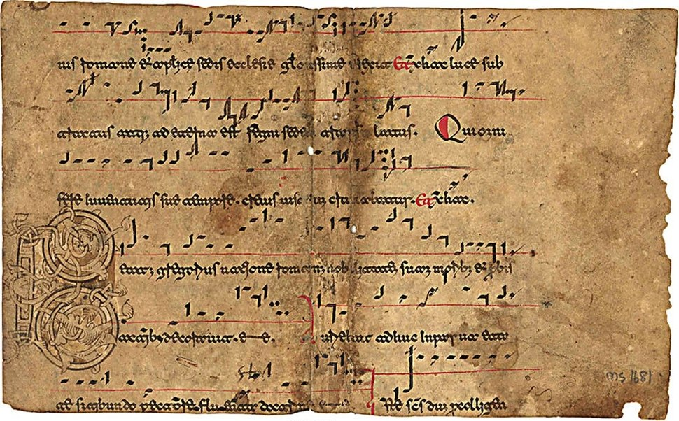 Beneventan music manuscript example