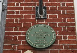 Benjamin banks plaque in salisbury