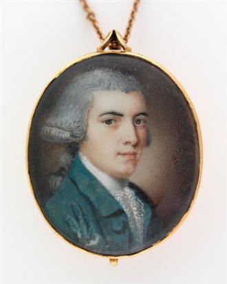 Benjamin Harrison V - miniature portrait, vahistorical.org