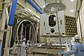 BepiColombo MPO being placed in Phenix thermal vacuum test facility ESA287633.jpg