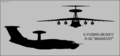 Beriev A-50 Mainstay two-view silhouette.png