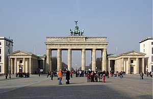 Berlin, Brandenburg Gate, eastside