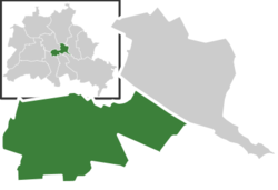 Location of Kreuzberg in Berlin and Friedrichshain-Kreuzberg