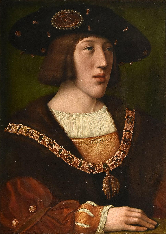 Bernard van Orley (1487-1541) Karel V - Koninklijk klooster van Brou (cropped)