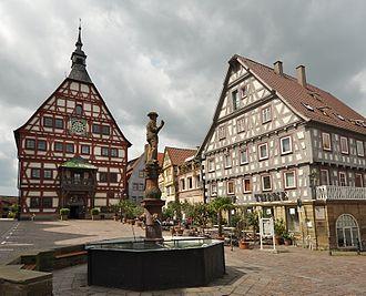 Besigheim - Image: Besigheim Marktplatz 2010 05