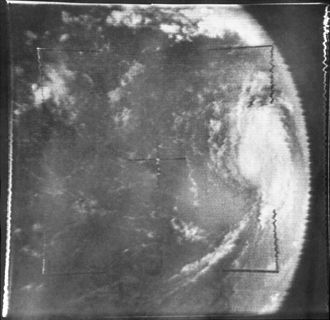 Hurricane Betsy - Betsy antecedent to being upgraded to hurricane intensity on August 29.