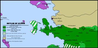 Aydınids - Image: Beylik of Aydın 1315 1375