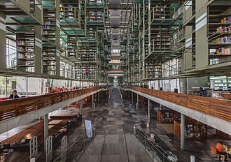 Education in Mexico - Interior of Biblioteca Vasconcelos, photo taken during Wikimania 2015