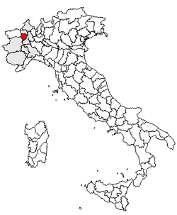 Location of Province of Biella