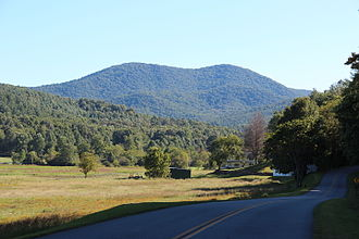 Big John Dick Mountain - Big John Dick Mountain, viewed from the north