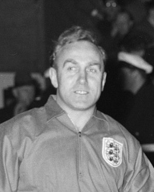 Alf Ramsey - England captain Billy Wright, for whom Ramsey deputised on three occasions. (1961)