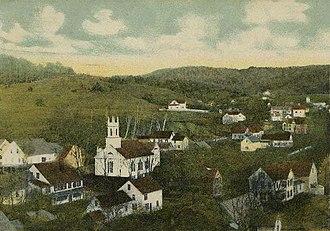 Gilsum, New Hampshire - Image: Bird's eye View of Gilsum, NH