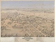 Bird's-eye view of Woodland 1871