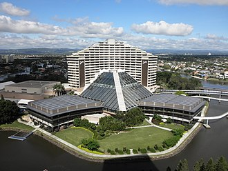 The Star Gold Coast - Image: Bird's eye view of Jupiters Casino on the Gold Coast
