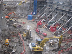 22 Bishopsgate - Image: Bishopsgate Tower Construction, December 2009