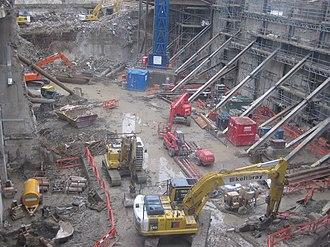 22 Bishopsgate - Image: Bishopsgate Tower Construction, December 2009