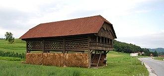 Simončič Hayrack - Simončič Hayrack seasonally hosts an art gallery and is still used to dry hay.