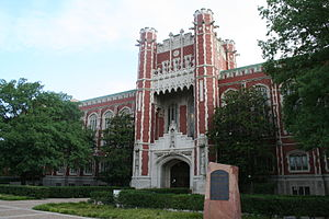 Bizzell Memorial Library - The original entrance to Bizzell Memorial Library