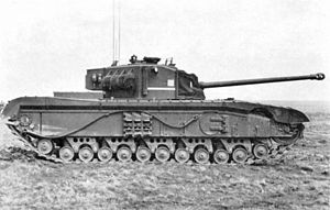 Black Prince tank side view