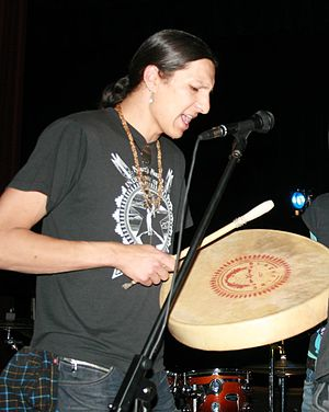 "Blackfire (American band) - Clayson Benally at ""The Unsung Heros of Time '09"" concert in Kayenta, AZ"