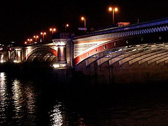 Blackfriars Bridge - Blackfriars Bridge at night