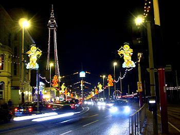 English: Blackpool Illuminations and Tower