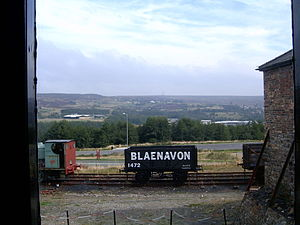 Blaenavon from the grounds of the Big Pit museum