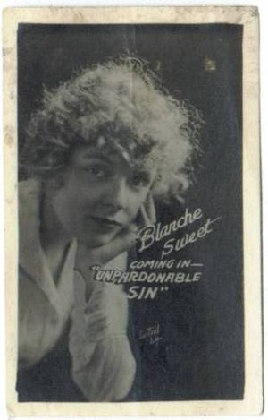 The Unpardonable Sin - Blanche Sweet coming attraction shot