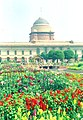 Blooming flowers casting a spell Rashtrapati Bhawan in New Delhi on March 14, 2005.jpg