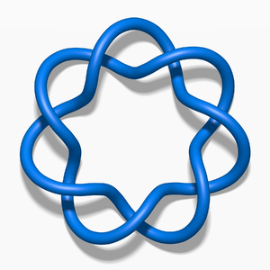2-bridge knot - Image: Blue 7 1 Knot