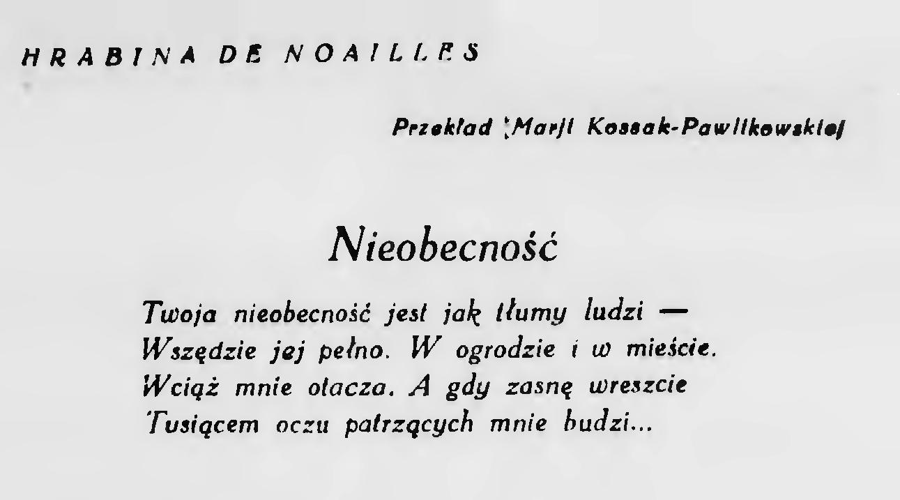 Filebluszcz 1926 Wiersze Hrabiny De Noaillesdjvu